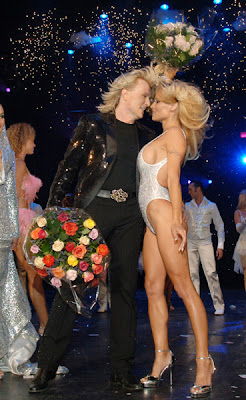 Hans Klok and Pamela Anderson. Opeing Night at Planet Hollywood Resort and Casino, Las Vegas