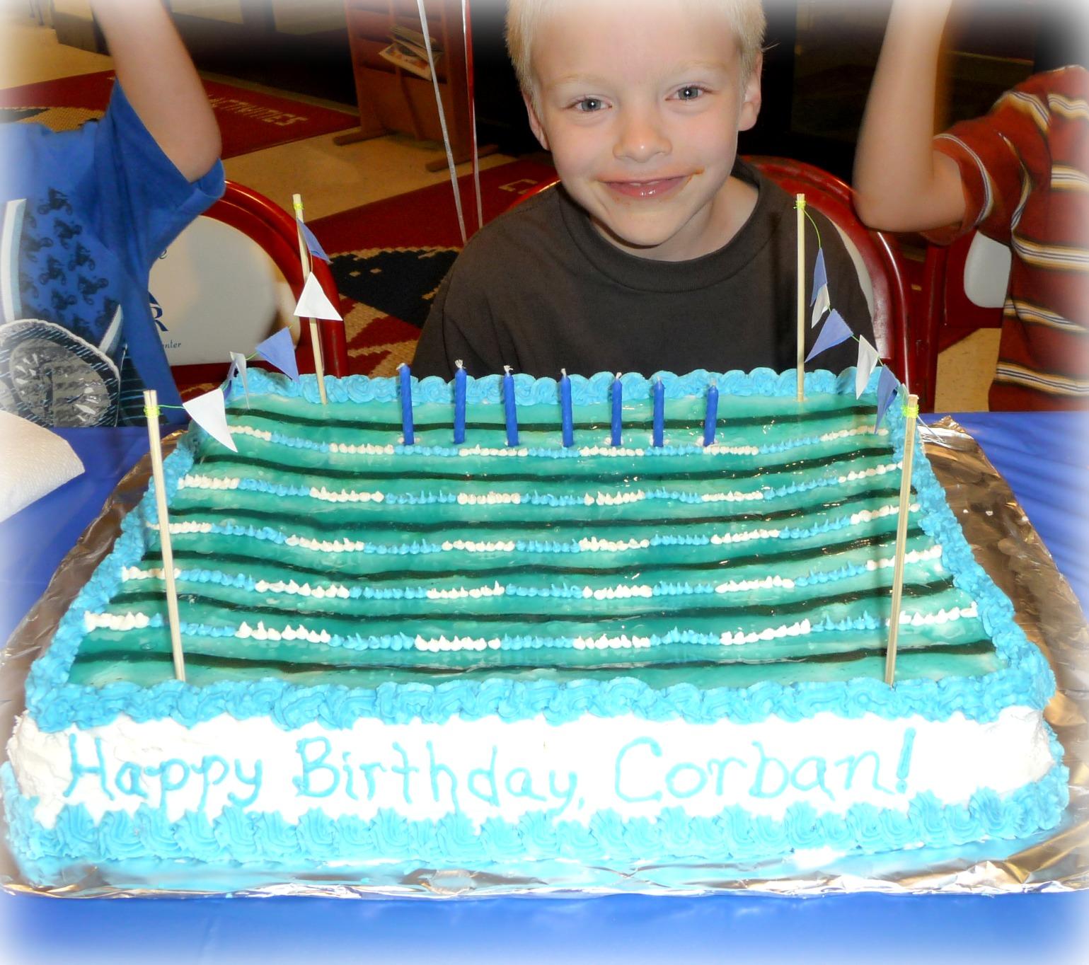 Family Food And Fun Swimming Pool Cake