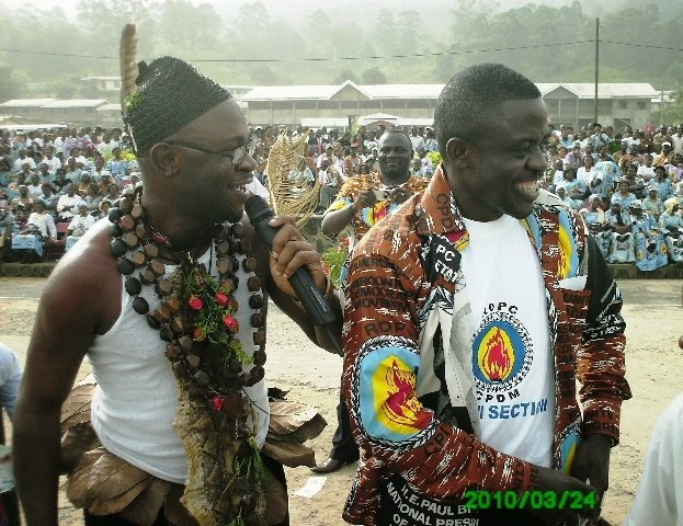 Singer+Tata+Kinge+&+Ikome+Willaims+Lifange+show+off+at+CPDM+25+anniversary+in+Buea Bakweri People:  Ancient Fierce Fighters, Traditionally Spiritual, Custom-Abiding And Agrarian Bantu People Of Mount Cameroon