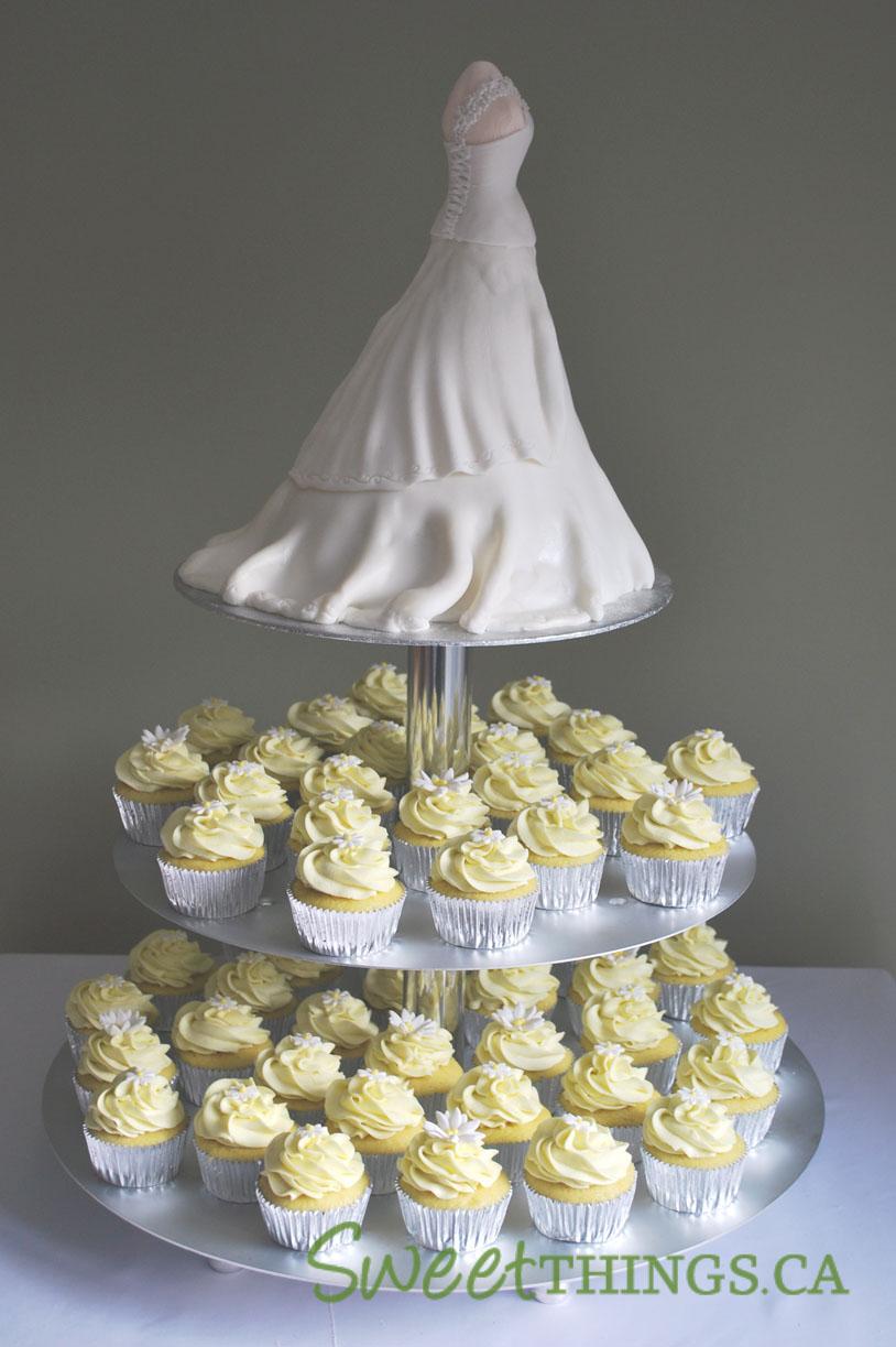 How To Make Bride Dress Cake