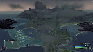 Crysis CryTek - The island as seen from HALO jump in the beginning of the game