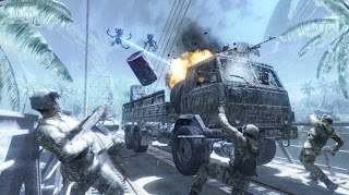 Crysis CryTek - Allied Froces Fight Against the Marauding Aliens on the Island Frozen by Alien Ship