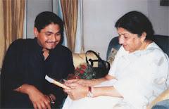 Dr. Sunil Jogi with Lata Mangeshkar