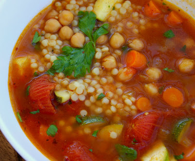 Gourmet Girl: Garbanzo Bean Soup with Israeli Cous Cous