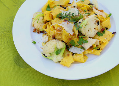 ... Girl: Pappardelle with Baby Cauliflower, Pine Nuts, Bacon and Parmesan