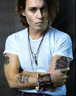 johnny tattoo designs. Johnny Depp Simple Tattoo