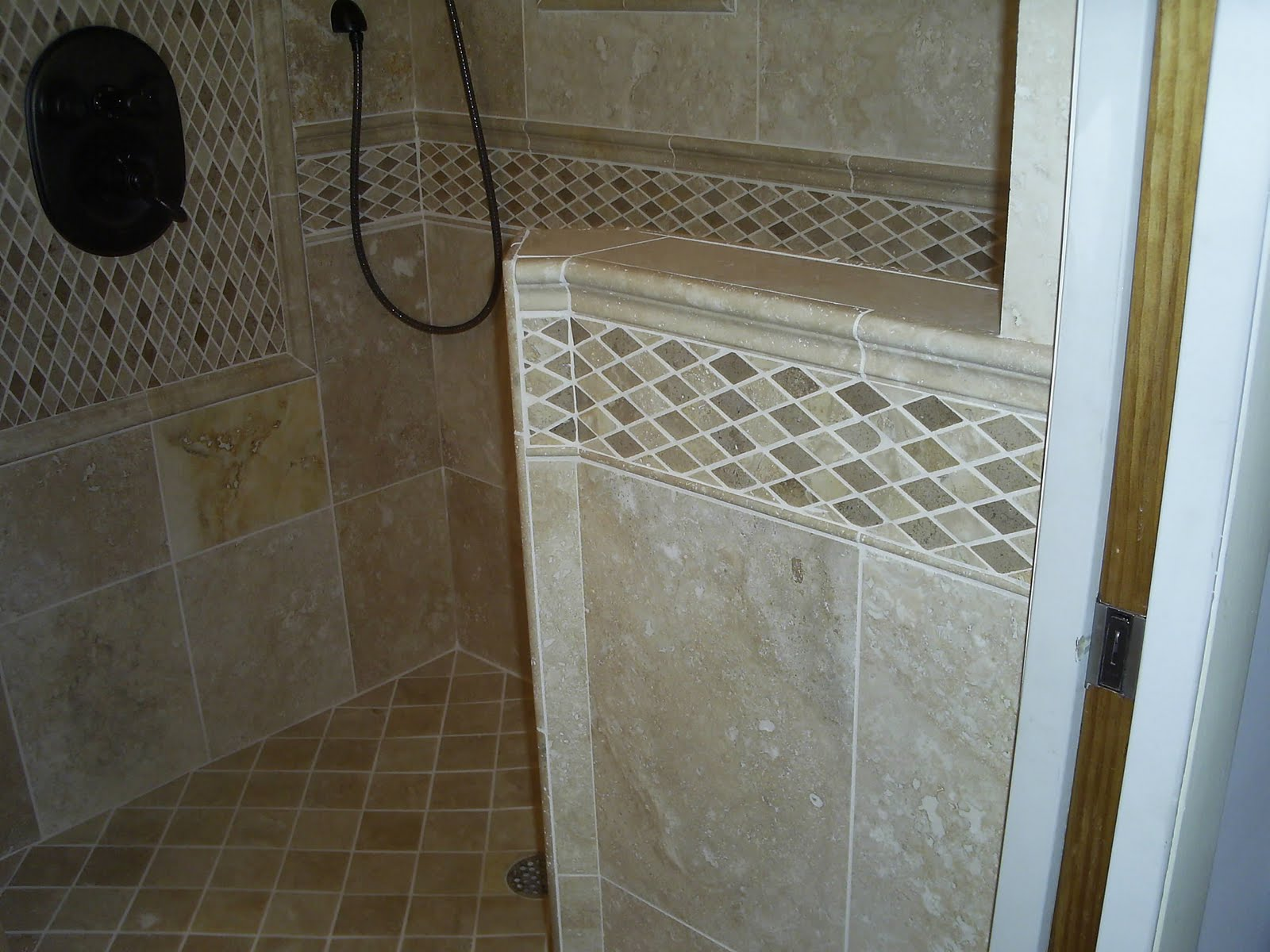 Maloney Tile and Marble: Travertine shower install in ...