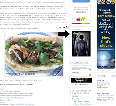 Wandering Chopsticks Large Ad Placement Option