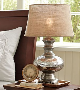 Left Coast Luxe Mercury Glass Lamps