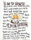 if you are sleepless