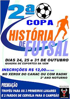 Saiu a Tabela da 2ª Copa História de Futsal. – Blog do Raoni 80d91dd4838a3