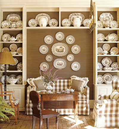 The Monochromatic Tone Of Plates Blends Beautifully With Neutrals In Room