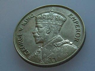 Xu Xu's Coin Page: New Zealand Half Crown 1934