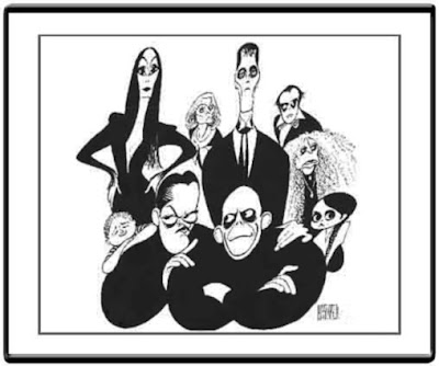 Le monde merveilleux des illustrateurs - Page 2 Al+Hirschfeld-Fam%C3%ADlia+Addamsjpg