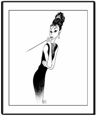 Le monde merveilleux des illustrateurs - Page 2 Al+Hirschfeld-Audrey+Hepburn+2