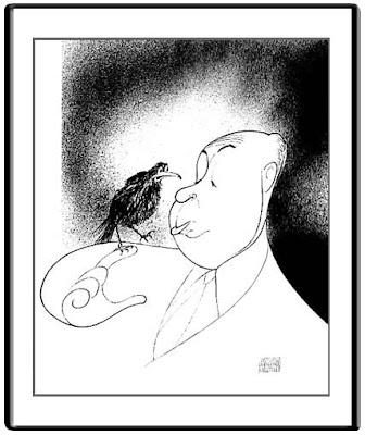 Le monde merveilleux des illustrateurs - Page 2 Al+Hirschfeld-Alfred+Hitchcock