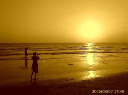 Sunset  di Pantai Akarena