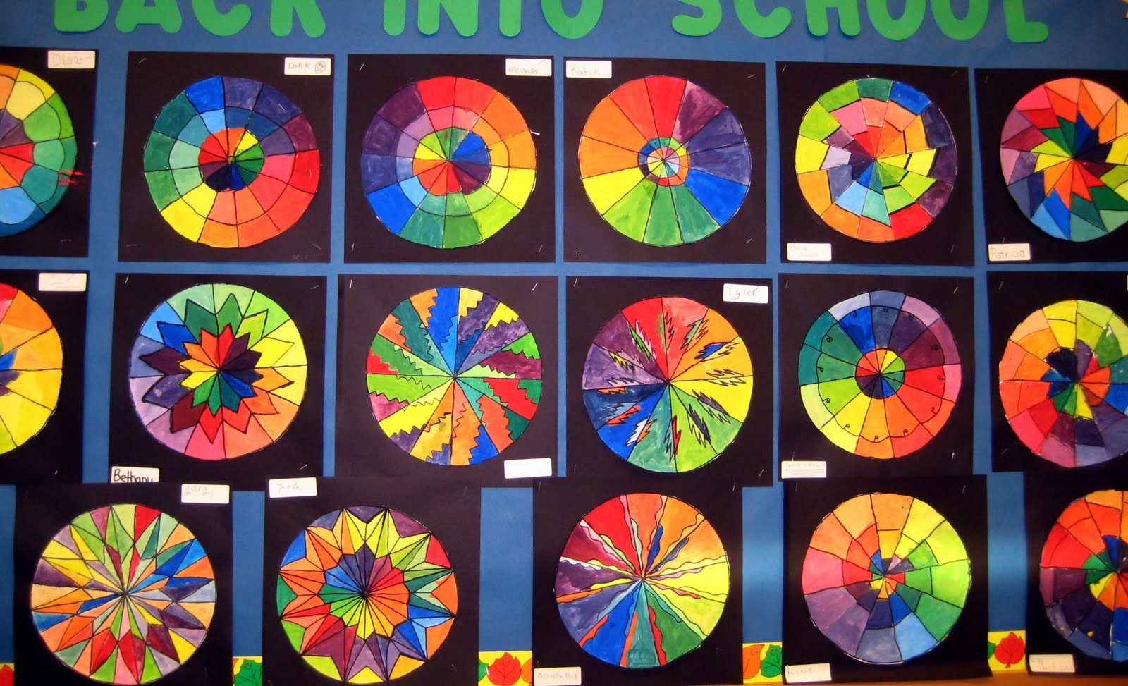 Mrs Art Teacher Complex Color Wheels