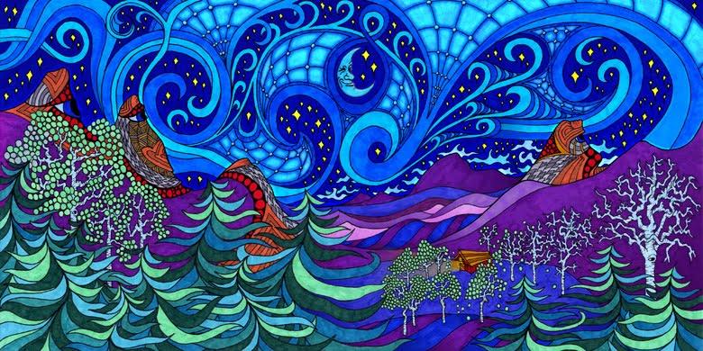 Mrs. Art Teacher!: rhythm and movement landscape