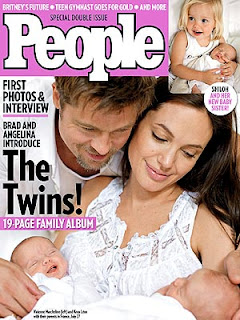 Brangelina Twins picture Knox Leon and Vivienne Marcheline