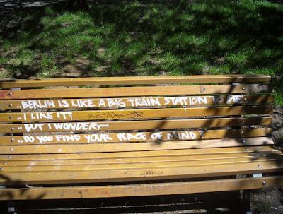The park bench poem