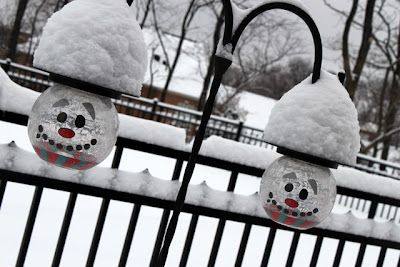 Solar snowman lights