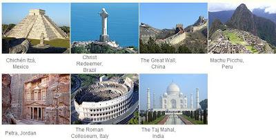 Fotografía de las nuevas siete maravillas, resultado de la votación en new7wonders.com