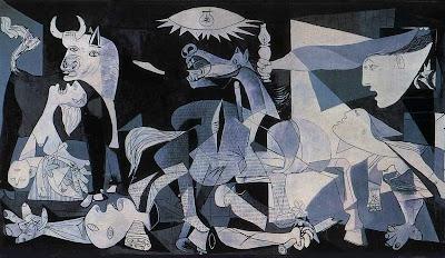 Imagen del cuadro (painting)Guernica de Picasso expuesto en el Museo Reina Sofía de Madrid  Google-lización cultural Picasso