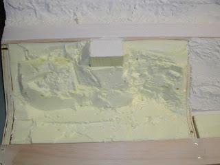 Lolotrain essai de relief 1 m thode 3 polystyr ne for Enduit sur polystyrene extrude