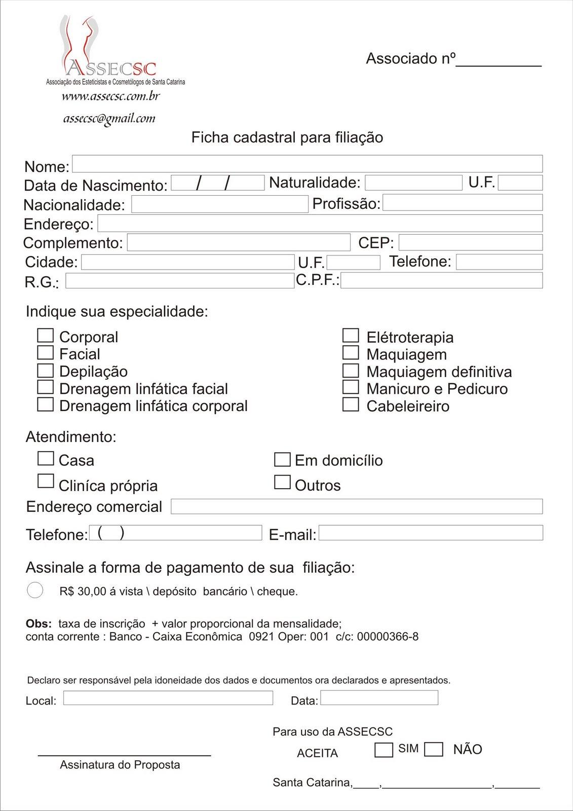 Ficha De Inscri    O