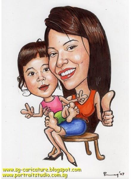Portrait Studio Singapore Www Sg Caricature Blogspot Com