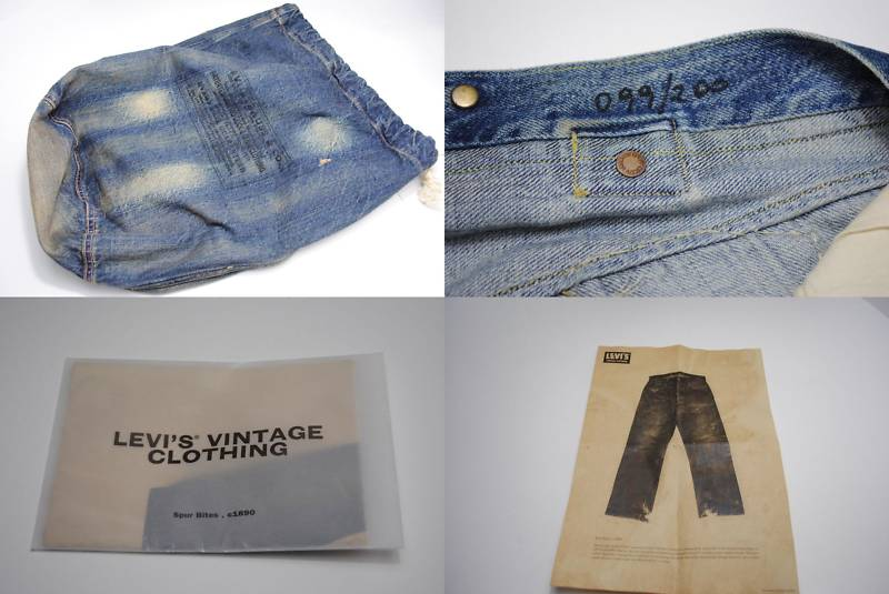 10c1cb17 Very detailed hand made distress finish, looks as if they have just been  found in old miner! The fabric is blue selvage denim and the silhouette is  a ...