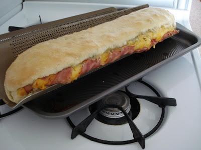 Ham, Basil, & Mozzarella Stromboli I One Lovely Life