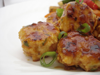 Asian Chicken Meatballs with Teriyaki Glaze I One Lovely Life