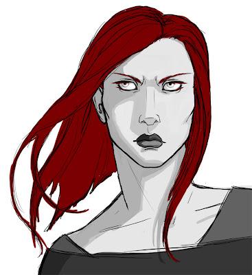 Angry redhead girl