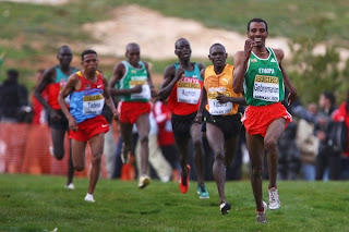 Gebre-egziabher Gebremariam out-sprints Moses Kipsiro, Leonard Komon and Zersenay Tadese to take the senior mens title (Getty Images)