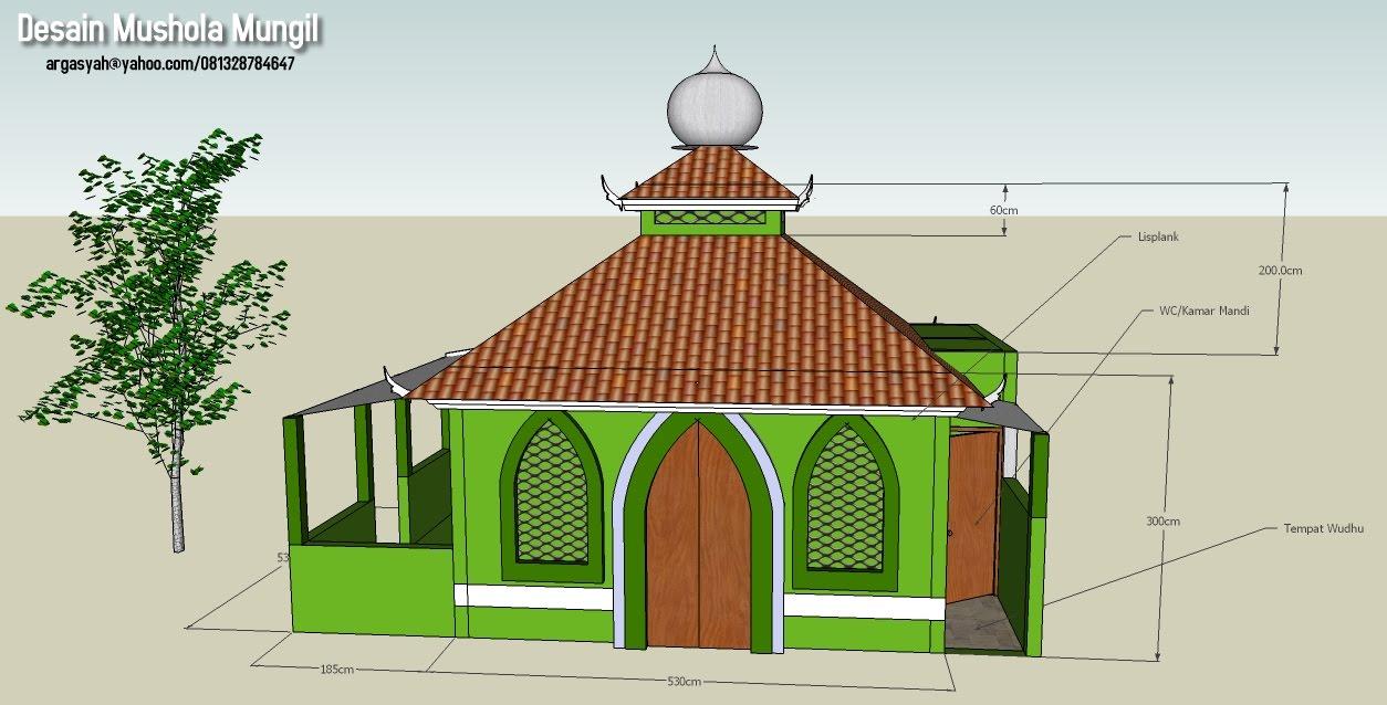 Desain Eksterior Mushola Mungil Ukuran 5 5 Meter Argajogja S Blog Desain masjid kecil