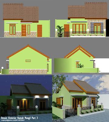 Desain Eksterior Rumah Mungil Warna Hijau ~ Blognya Wong ...