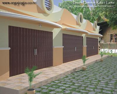 desain fasad eksterior ruko 1 lantai ~ blognya wong sipil