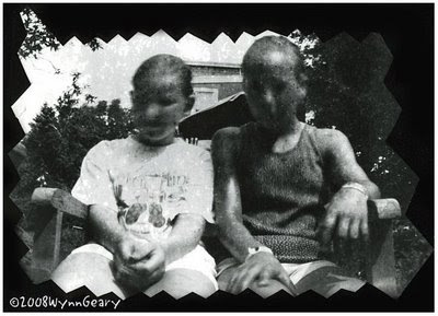 Pinhole photograph of two girls