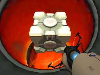 portal+weighted+companion+cube+fire.bmp