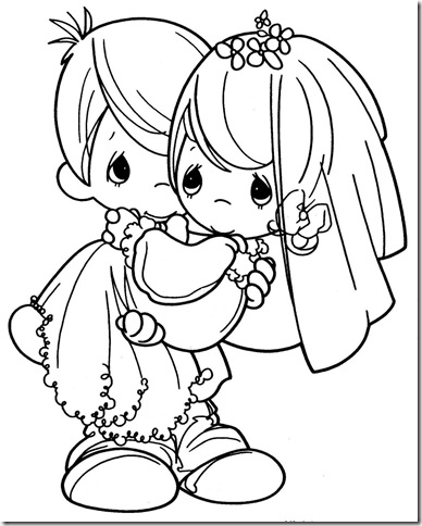 precious moments wedding coloring pages - photo#4