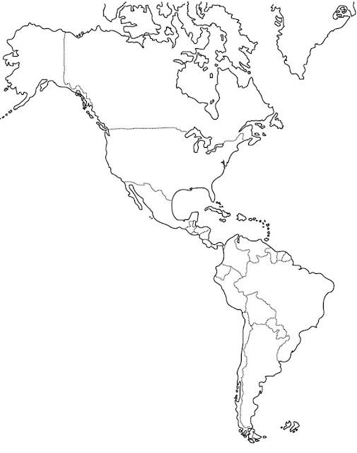 Mapa Mudo De America.Mapa Mudo Da America Anglo Saxonica