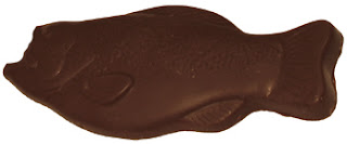 chocolate fish unwrapped