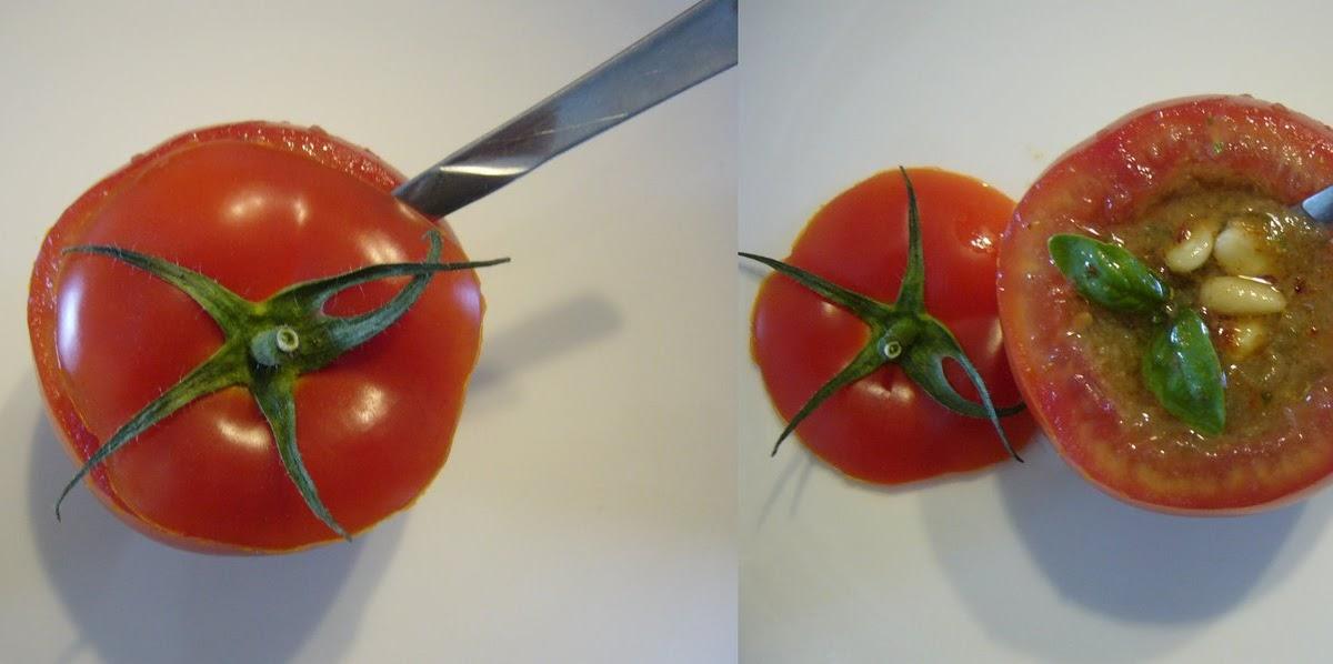 Tout cru dans le bec gaspacho dans une tomate for Vers dans les tomates