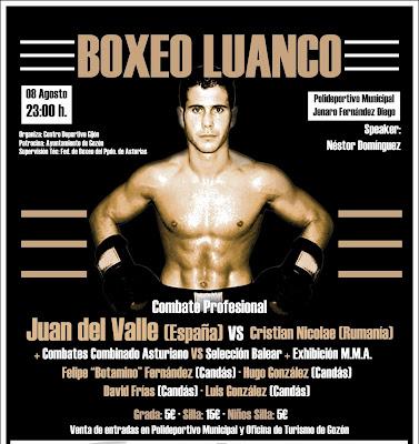 Boxeo Vele 241 O Del Valle Vs Nicolae Pelea Estelar En Luanco