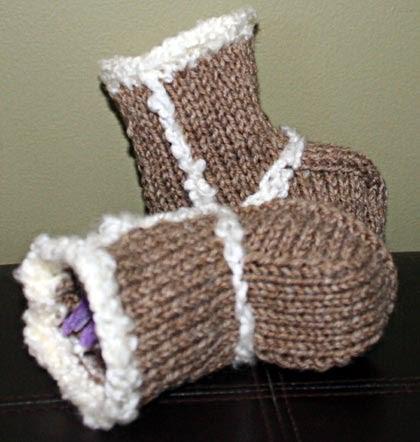 Kandikane Knitting Baby Ugg Boots