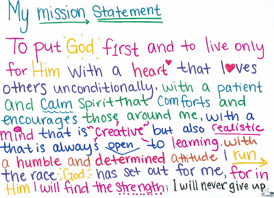 creating a christian personal mission statement