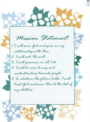 how to write a personal mission statement christian