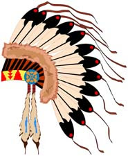 Native American clip art of head dress